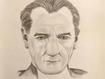 Atatürk Karakalem Portre